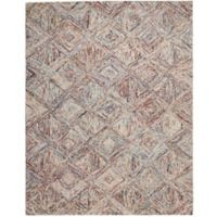 "Nourison Interlock 5' x7'6"" Hand Tufted Multicolor Area Rug"