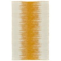 Feizy Bashia Center Stripe 4-Foot x 6-Foot Area Rug in Mustard