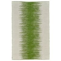 Feizy Bashia Center Stripe 4-Foot x 6-Foot Area Rug in Green