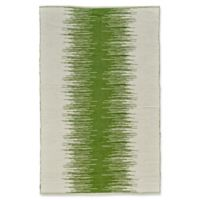 Feizy Bashia Center Stripe 5-Foot x 8-Foot Area Rug in Green