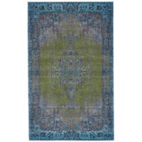 Feizy Vassar Distressed Medallion 2-Foot 2-Inch x 4-Foot Accent Rug in Teal