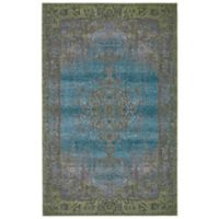 Feizy Vassar Distressed Medallion 2-Foot 2-Inch x 4-Foot Accent Rug in Blue