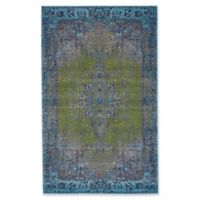 Feizy Vassar Distressed Medallion 5-Foot x 8-Foot Area Rug in Teal