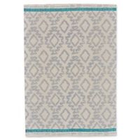 Feizy Aida Diamonds 5-Foot x 8-Foot Area Rug in Grey/Turquoise
