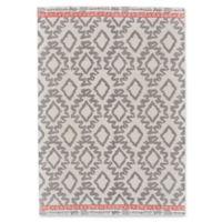 Feizy Aida Diamonds 5-Foot x 8-Foot Area Rug in Grey/Orange