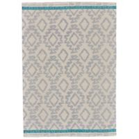 Feizy Aida Diamonds 8-Foot x 11-Foot Area Rug in Grey/Turquoise