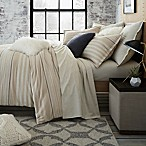 UGG® Lunar Stripe Cotton Flannel Full/Queen Duvet Cover in Sesame