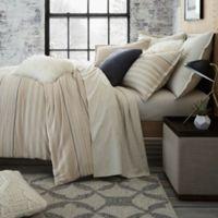 UGG® Lunar Stripe Cotton Flannel King Duvet Cover in Sesame
