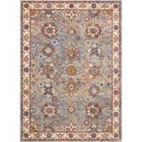 "Nourison Reseda 5'3"" x 7'6"" Machine Woven Area Rug in Sky"