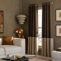 Kendall 95-Inch Grommet Top Window Curtain Panel in Chocolate