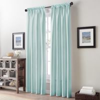 Addison Twill Tailored 84-Inch Rod Pocket Window Curtain Panel in Light Blue