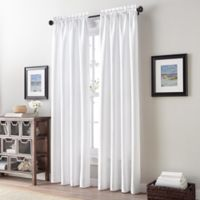 Addison Twill Tailored 63-Inch Rod Pocket Window Curtain Panel in White