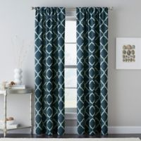 Casbah Trellis 84-Inch Rod Pocket Window Curtain Panel in Blue