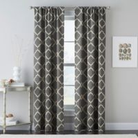 Casbah Trellis 84-Inch Rod Pocket Window Curtain Panel in Grey