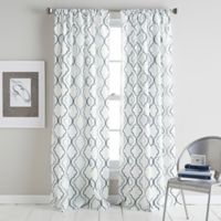 Coco 84-Inch Rod Pocket Window Curtain Panel in Blue