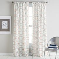 Coco 95-Inch Rod Pocket Window Curtain Panel in Coral