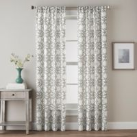Lotus Harmony Tailored 84-Inch Rod Pocket Window Curtain Panel in Charcoal