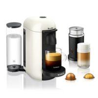 Nespresso® by Breville® VertuoPlus Coffee and Espresso Maker Bundle with Aeroccino in White