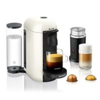 Nespresso® by Breville® VertuoPlus Coffee and Espresso Maker Bundle with Aeroccino in White