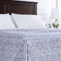 Berkshire Blanket® VelvetLoft® Floral Twin Blanket in Grey