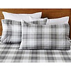 Great Bay Home Hanley Plaid Queen Sheet Set in Frost Grey