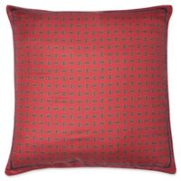 Bespoke Herringbone Square Throw Pillow in Red