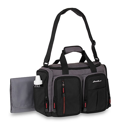 dad diaper bags eddie bauer belmont duffel style diaper bag from buy buy baby. Black Bedroom Furniture Sets. Home Design Ideas