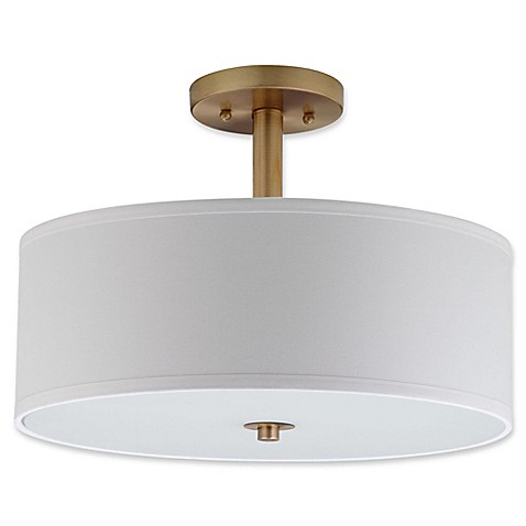 Safavieh clara 3 light semi flush mount ceiling light in chrome