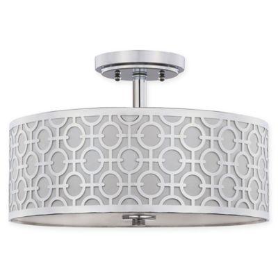 safavieh cera chainlink 3light flushmount light in chrome