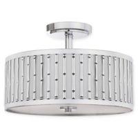 Safavieh Pierce Bamboo 3-Light Flush-Mount Ceiling Lamp in Chrome