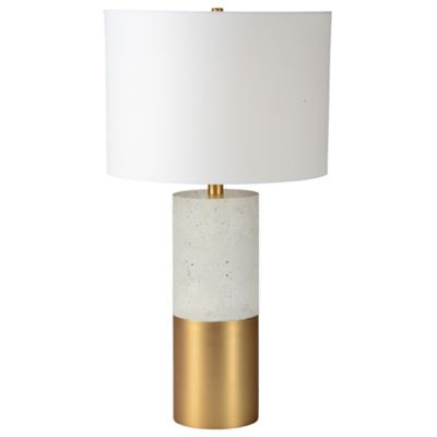 renwil liberty table lamp in cementsatin brass
