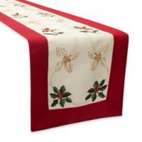 Holly Berries 72-Inch Embroidered Table Runner