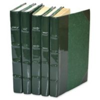 Leather Books Patent Leather Re-bound Decorative Books in Dark Green (Set of 5)