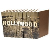 Hollywood Decorative Leather Books in Brown (Set of 10)