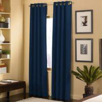 Cameron 63-Inch Grommet Top Window Curtain Panel in Navy