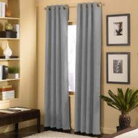 Cameron 63-Inch Grommet Top Window Curtain Panel in Pewter