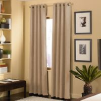 Cameron 120-Inch Grommet Top Window Curtain Panel in Sand