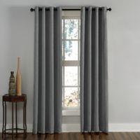 Lenox 144-Inch Grommet Top Room Darkening Window Curtain Panel in Grey