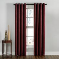 Lenox 144-Inch Grommet Top Room Darkening Window Curtain Panel in Wine
