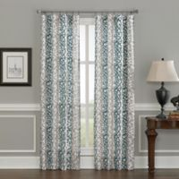Damask Stripe 63-Inch Rod Pocket Window Curtain Panel in Blue