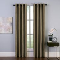 Malta 84-Inch Grommet Room Darkening Window Curtain Panel in Bronze