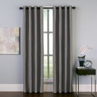 Malta 84-Inch Grommet Room Darkening Window Curtain Panel in Pewter