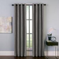 Malta 144-Inch Grommet Room Darkening Window Curtain Panel in Pewter