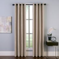 Malta 108-Inch Grommet Room Darkening Window Curtain Panel in Sand