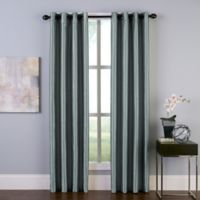 Malta 108-Inch Grommet Room Darkening Window Curtain Panel in Teal