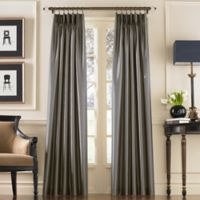 Marquee 120-Inch Pinch Pleat/Back Tab Window Curtain Panel in Pewter