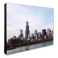 Chicago Skyline 20-Inch x 24-Inch Photo Canvas Wall Art