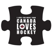 """Wallverbs™ Mix & Match Puzzle Frame """"Canada Loves Hockey"""" Piece"""