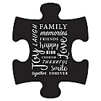 WallVerbs™ Mix & Match Puzzle Wall Art  Family  Piece in Black