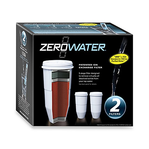 Zerowater 174 2 Pack Pitcher Replacement Filter Bed Bath